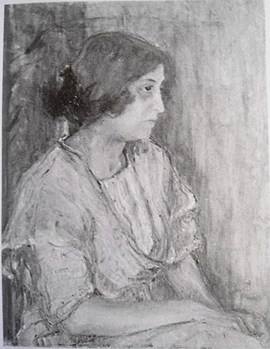 <b>Baby</b>, 1914<br>óleo s/ tela, 73 x 60 cm<br>s.d; s.a<br>Reproduzido de fotografia de época
