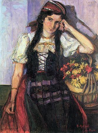 GEORGINA, 1914. óleo s/ tela, 98 X 73 cm. Edgar Saigh, SP
