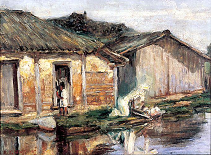 A Lavadeira, [1920-21 c.] óleo s/ tela, 37 x 50 cm
